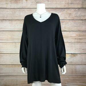 Faded Glory Black Center Seam Tunic Sweater
